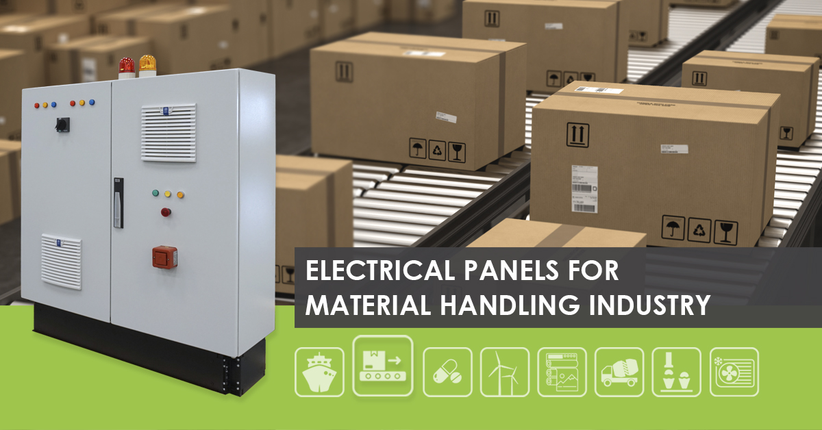 Electrical control panels for material handling systems